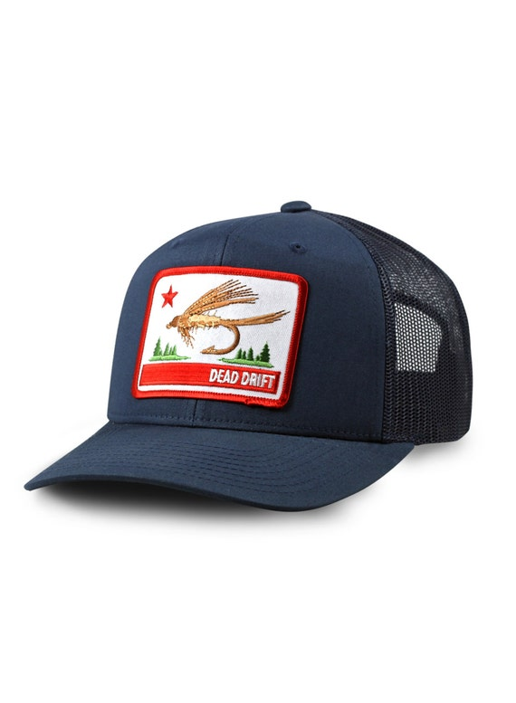 Fly fishing hat california flag snap back trucker by dead for American flag fish hat