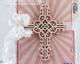 Handmade Happy Easter Cross Card