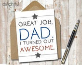 Instant Download Funny Father's Day Card / For Dad / I Love Dad / Thanks Dad Greeting Card / Card for Dad - Printable