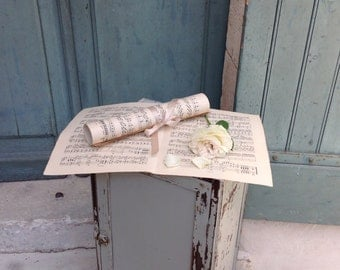10 sheets of Large Antique French sheet music for decoration - Belle Époque