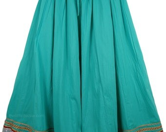 Emerald Green Moroccan Skirt