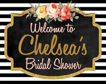 Floral Chalkboard Bridal Shower printable add ons
