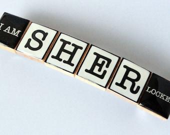 I Am Sherlocked Scrabble Tile Barrette