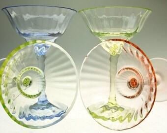 Shots of liqueur glasses Tumblers 50's mid century