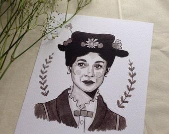 Mary Poppins 8x10 print