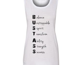 Bust Ass Fitness Tank Top, Fitness Tee, Womens Fitness Tank Top, Womens Workout Tank Top, Workout Tshirt, Workout Tank Top, Fitness Tshirt