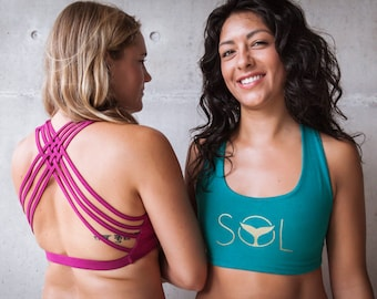 Organic Cotton Yoga-Bra with Spider-Web Back