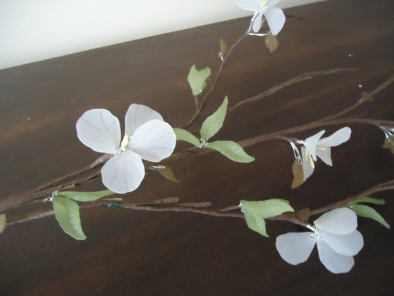 32 White Glass Acrylic Flower Stem Diy Silk Floral Supplies Home Decor Wedding Supplies 237 From Foreverbloomsbylori On Etsy Studio