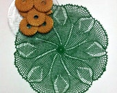 Crochet doily, Green lace doily, Centerpiece crochet doilies, Table decoration, Home decor, cotton doily Elegant decor element