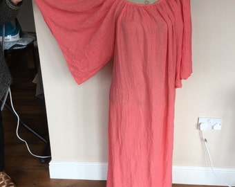 Vintage Cheesecloth Dress and Scarf