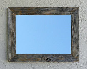 Reclaimed Wood Mirror. Rustic Decor. Eco Friendly. Large Mirror. Framed Mirror. Modern Mirror. Rustic Mirror. Wall Mirror. Bathroom Mirror