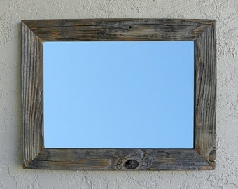 Reclaimed Wood Mirror. Rustic Home Decor. Large Mirror. Framed Mirror. Modern Mirror. Rustic Mirror. Wall Mirror. Ready to Ship. 20x26