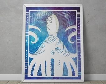 """Abstract Modern Art Print - """"Octopus"""""""