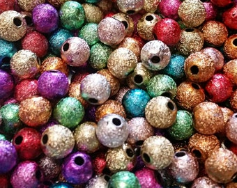 6mm Mixed Stardust Beads