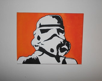 Stormtrooper Acrylic Painting