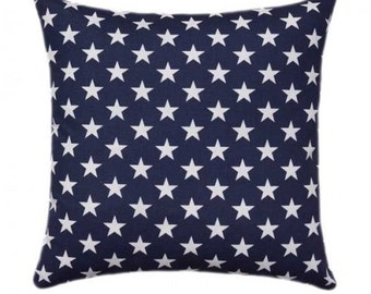 Outdoor American Flag Pillow Cover 18x18 20x20, Patriotic Pillow Stars Pillow, Navy Blue Pillow, July 4th Decor,