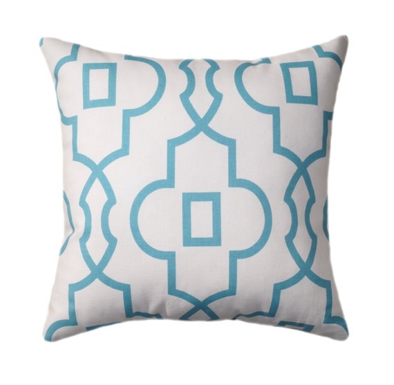 Light Blue Throw Pillow Covers : Light Blue Pillow Cover Coastal Blue Throw by ThePillowCoverStore