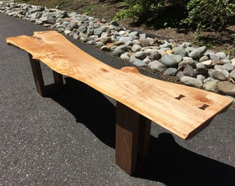 SOLD - Live Edge Maple Wood Coffee Table