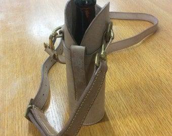 Leather beer bottle carrier