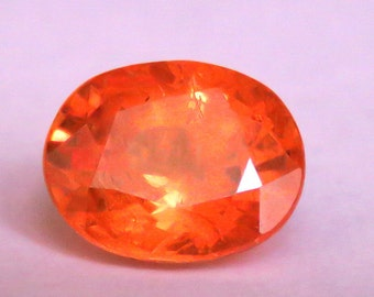 LUSTROUS!! 2.62 CT orange color natural spessartite garnet from africa