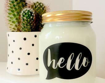 Hello Handmade scented Soy candle
