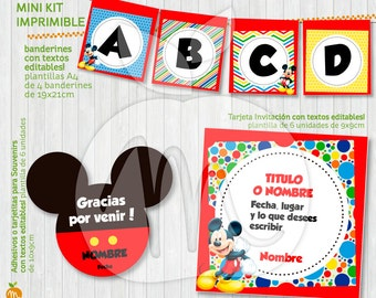 AWSOME MICKEY KIT! printable with editable texts! Instant Download!