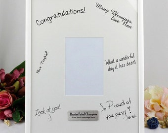Personalised Signature Coach/ Sports Trophy Photo Frame with Stand