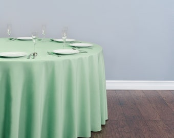 Mint Tablecloths and Overlays Polyester | Wedding Tablecloth | Choose Size