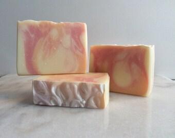 Pink Grapefruit Cold Process Soap