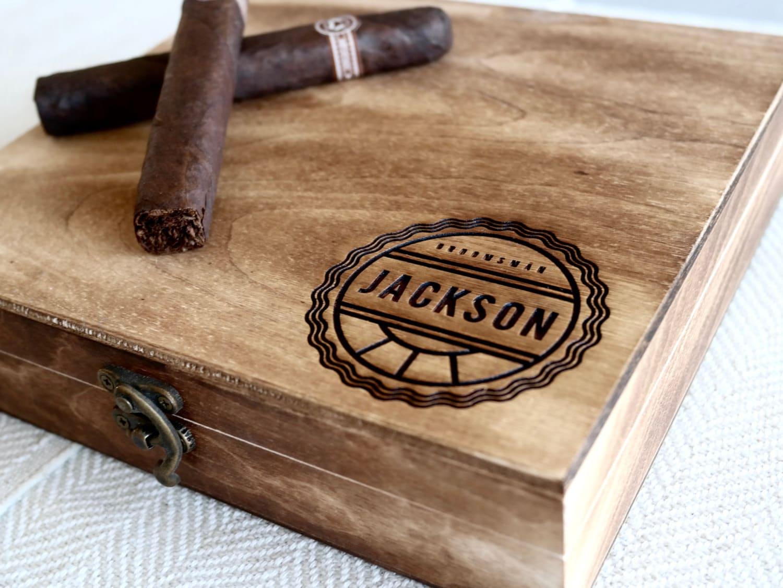 Groomsmen Gift Box Personalized Cigar Box Engraved