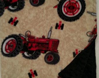 Tractor baby blanket