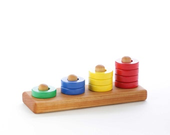 Wooden Ring Stacker Toy