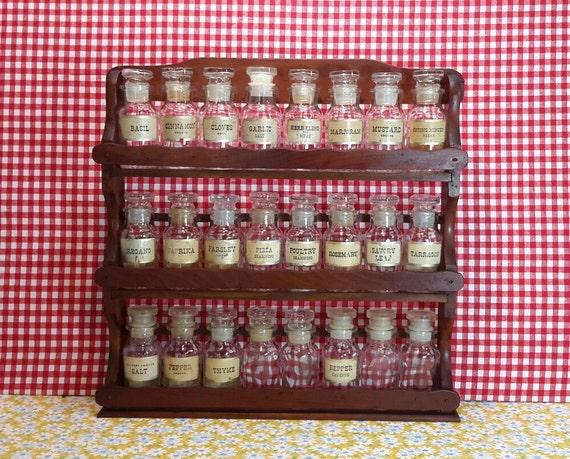 wagner spice rack wagner spice jars original wagner labels. Black Bedroom Furniture Sets. Home Design Ideas