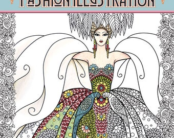 Adult Coloring Books Vintage Series: The Masters of Fashion Illustration - Signed Copy w/ Bonus PDF