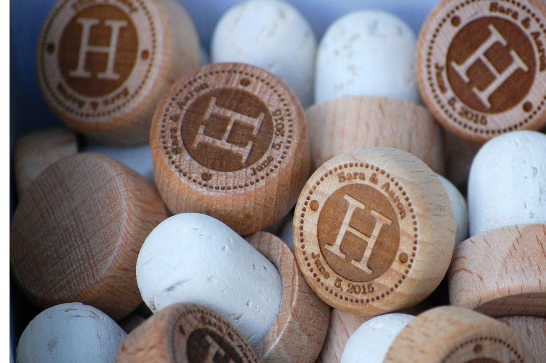 Personalized Wedding Favors Custom Wine Stopper By UrbanLoftTampa