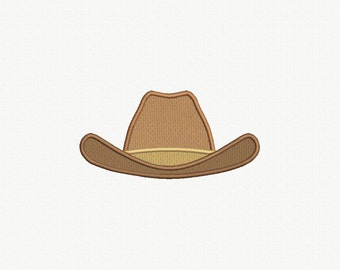 Cowboy Hat Applique Machine Embroidery Design - 3 Sizes