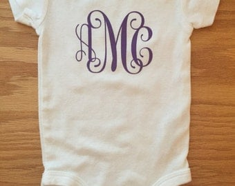 Custom Baby Outfit - Monogram kids clothes - Personalized Baby Outfit - Custom baby bodysuit - Funny Baby clothes