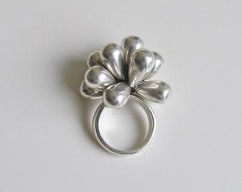 Danish Sterling Silver Ring Gunar Thorvald-Ekberg Copenhagen 1970s
