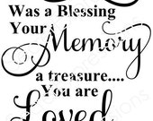 Your Life Was Blessing Memory Treasure Loved Beyond Words Missed Beyond Measure SVG Jpeg DXF File Personal Cutter Pattern Cut Out Print File