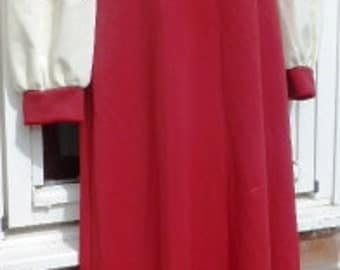 """70's Polyester Maxi Dress - size 14 UK ( 36-38"""" bust)"""