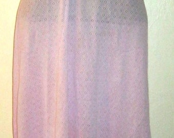 """Delicate Lilac Nylon Frilly Slip - size 36"""" by St Michael"""