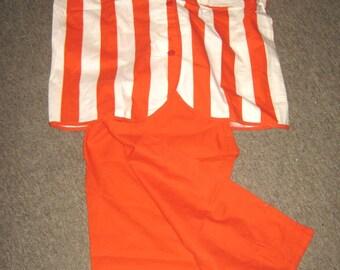 "ON SALE - 1950's Stripe Cotton Pyjamas by Sidroy size 42"" to for 12-16 UK"
