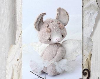 Pattern teddy bear angel