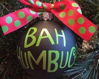 Personalized Bah Humbug! Christmas Ornament
