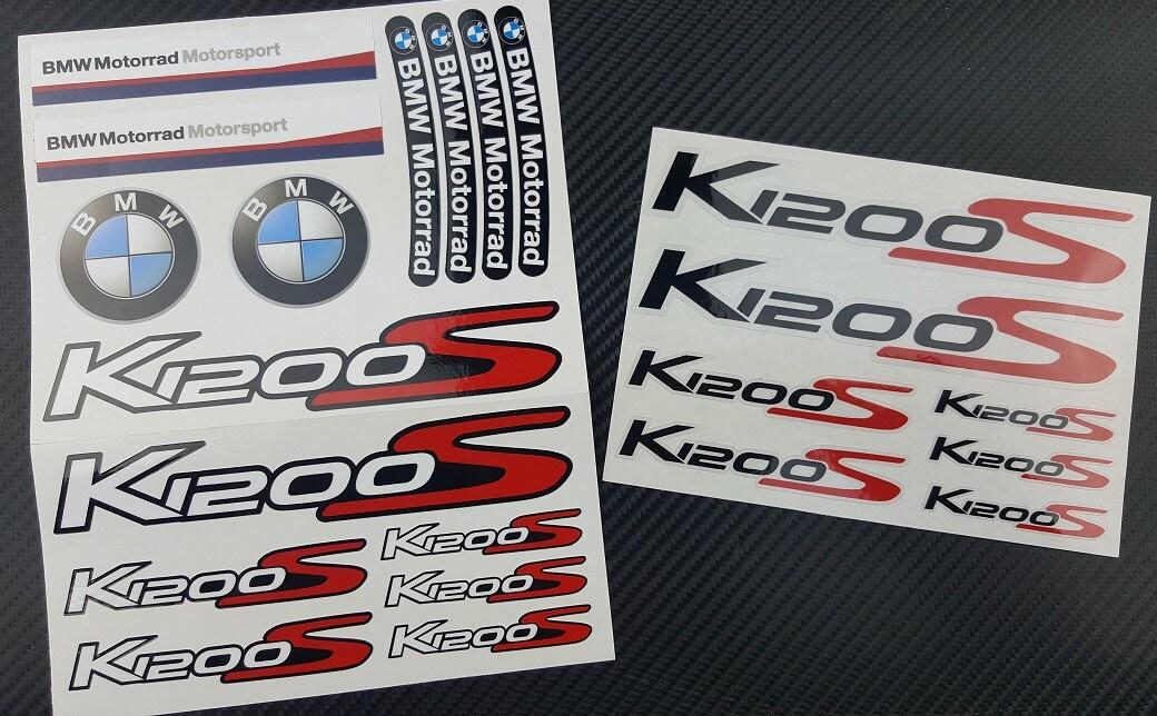 bmw motorrad k1200s aufkleber set blatt 22 stickers graphics. Black Bedroom Furniture Sets. Home Design Ideas