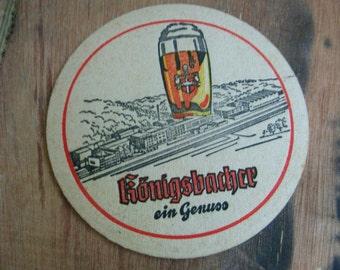 Vintage German coaster.German bier,barware,rare coaster,breweriana,bar,collectible,bar accesories,beer,table coasters,drink coaster,coasters