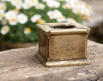 Solid Brass Ashtray 1920