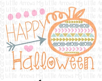 Happy halloween SVG, DXF, EPS, png Files for Cutting Machines Cameo or Cricut - womens halloween shirt - diy halloween - cute halloween