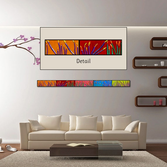Wall Decor Horizontal : Horizontal wall art customizable ft floral by