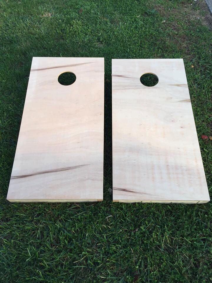 Unfinished Cornhole Boards Regulation Size With Collapsable